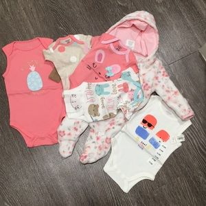 (6 Items) baby girl clothes